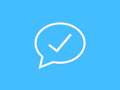 WeDo App Icon simple clean chat check mark design logo app sketch iphone ios icon
