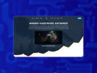 Mining hardware landing page