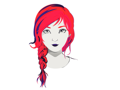 Girl | Vector portrait