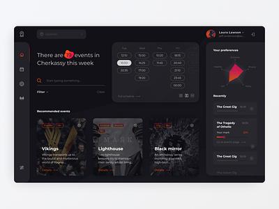 Movie app booking movie graph chart statistics dashboard app interface ux ui