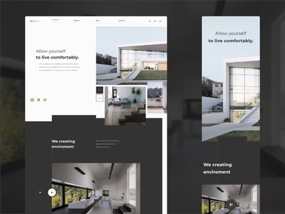 MetaRCH building house webdesign architecture website