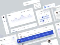 Education platform UI Kit ui kit application graph chart statistics dashboard app interface ux ui