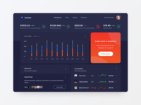 Marketing Agency Dashboard Dark Mode