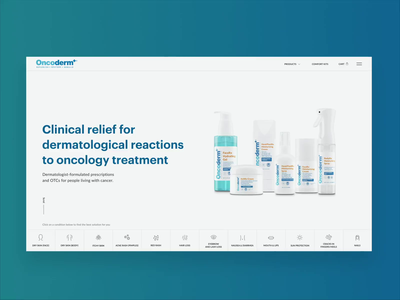 Skincare HIPAA compliant e-Commerce Homepage clean web interaction design e-commerce web design motion design package design ui ux adobe photoshop adobe after effects