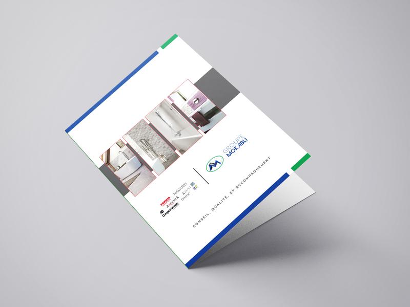 Brochure Moka design vector illustration