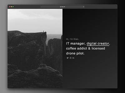 Personal page website creator gradient portfolio minimal bio personal