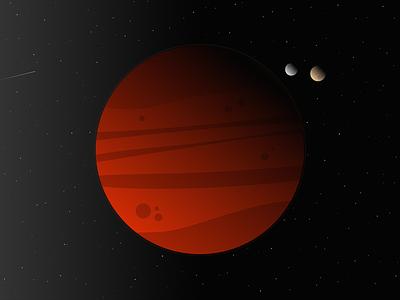 Mars martian desktop gradient wallpaper moon mars minimal space 8k
