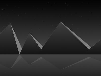 Mountains wallpaper 8k desktop space moon gradient minimal