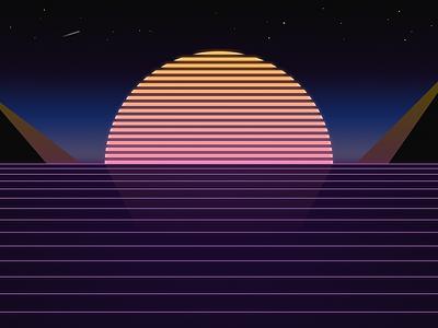 Retro minimal gradient retro desktop 8k wallpaper