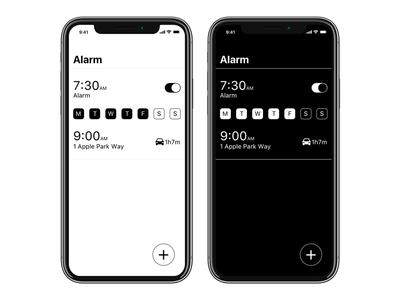 Rethinking the stock Alarm app location design app alarm ios