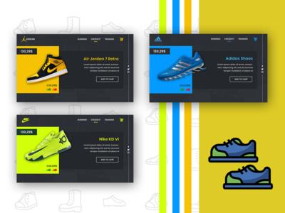 Shoe Web Template