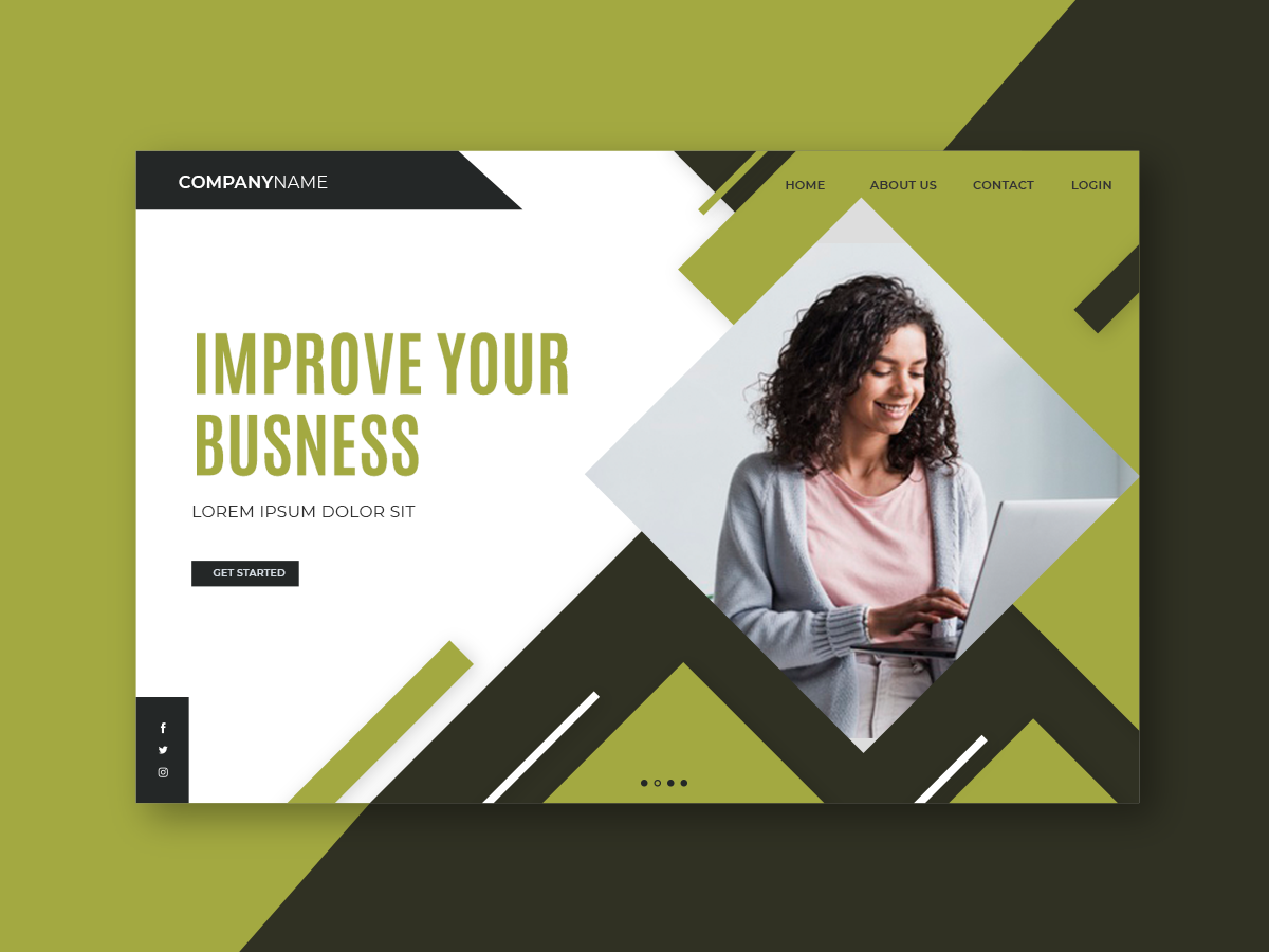 Web landing page web template banner landing page business