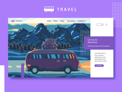 Web landing page -Travel Concept