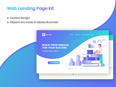 Web landing page - Education concept education landing page banner template website landing web page