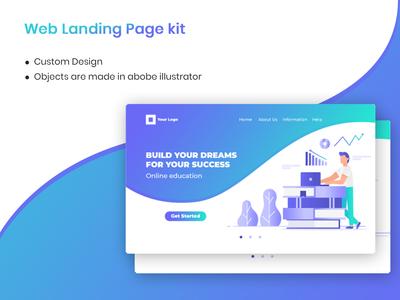 Web landing page - Education concept