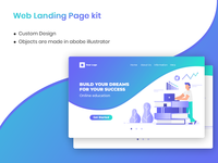 Web landing page - Education concept