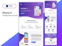 iPhone 11- Landing Page Concept