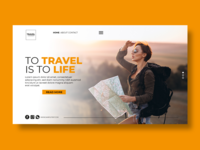 Travel Life - Web Landing concept