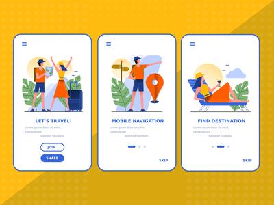 Travel app Startup screens