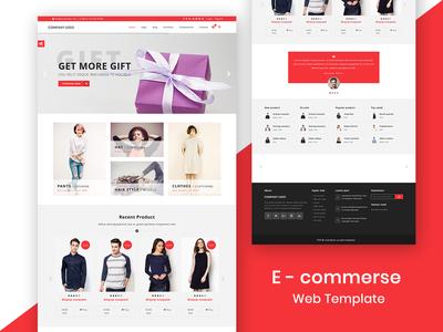 E-commerse web template
