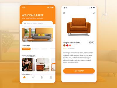 Furniture App Screens