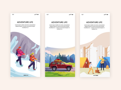 Adventure life screens