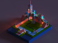 Monument Valley Inspired - MagicaVoxel Scene