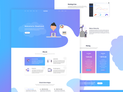 Saieum - Landing page for SAAS website