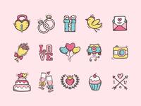 Wedding Doodles Icon