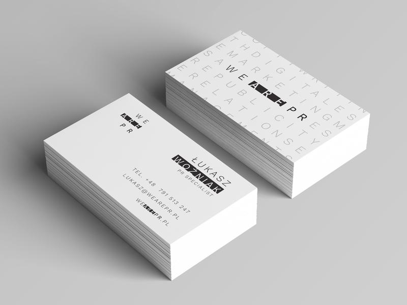 Business Cards For We Are Pr By Bartosz Wiciskibvinci