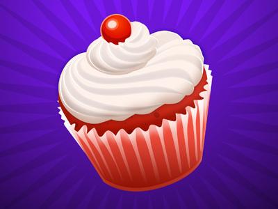 Cupcake cupcake red purple dessert