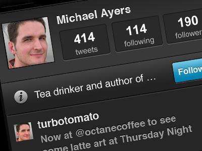 Tweetery iphone mobile app twitter profile