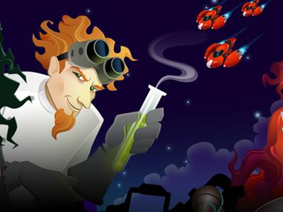 Art Panel mad scientist game art