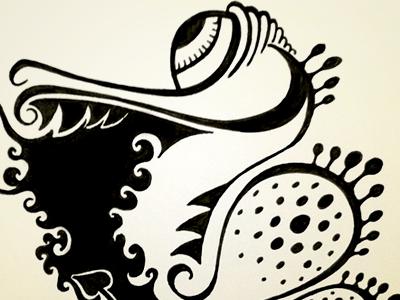 Burnie ink dragon drawing