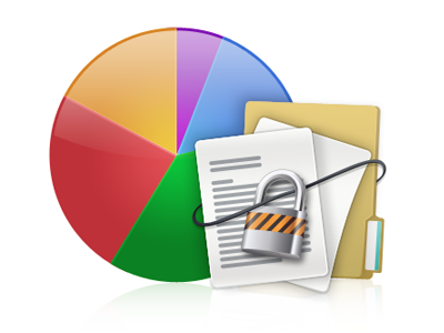 Research and Analytics icon pie chart files