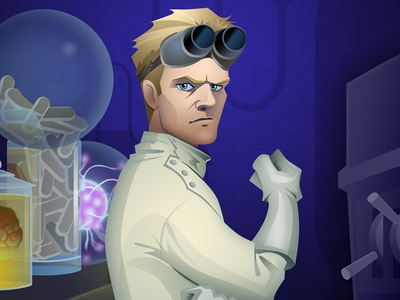 Dr. Horrible scientist villain evil genius game art illustration