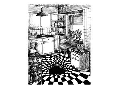 Lafarium cocina kitchen diego arandojo lafarium emiliano raspante ink wash blanckandwhite character art characterdesign illustration art illustration draw comicart