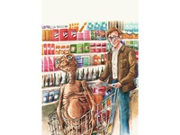 Going to the chinese supermarket with E.T.