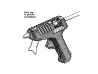 The gun that everything glued.