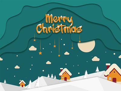 Merry Christmas illustrator ui vector flat illustration design
