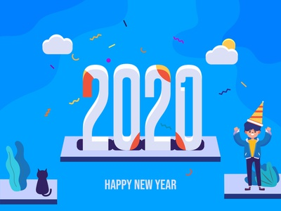 New Year illustrator ui vector flat illustration design