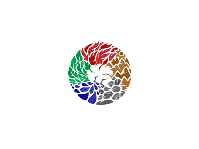 5 Elements + Brain logo physician psychiatry clinic mental psychiatrist ancient china asian healthy elements chinese mind medical asia colorful wellness brain medicine acupuncture