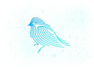 Indigo bird logo bird lines logo gradient architecture indigo blue