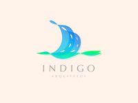 Bird + building Indigo logo