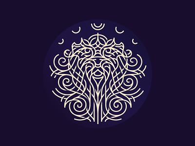 All ways Macrame // Lion logo mistic line animal beaultiful jewelry artesanato arts and crafts knitting knot lion macrame