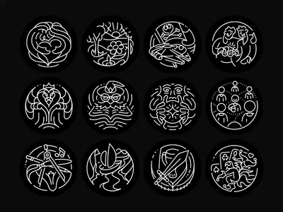 The 12 Jungian Archetypes unconscious collective 12 myth symbols being archetypes archetype behavior culture badge adventure lover carrier sage hero study psyche psychology jung