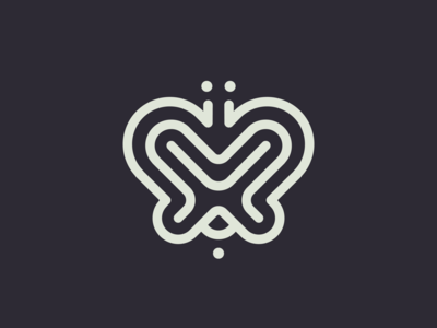 M Butterfly // Mazes - Logolounge 2020 bubble path track like wind butterfly logo labirynth wings wing fly butterfly maze mazes