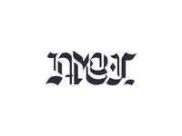 AMOR FATI ambigram // Blackletter 07/15 - Logolounge 2020 animation logotype trends trending lounge logo logolounge nietzsche fati amor amor fati custom type flip ambigram gothic typography black letter blackletter