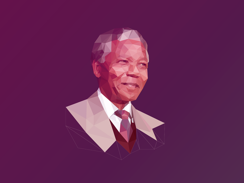 Poly Mandela #RIPNelsonMandela nelson mandela mandela rip south africa apartheid poly low poly triangulation polygon