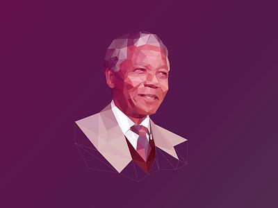 Poly Mandela #RIPNelsonMandela nelson mandela mandela rip south africa apartheid poly low poly triangulation polygon